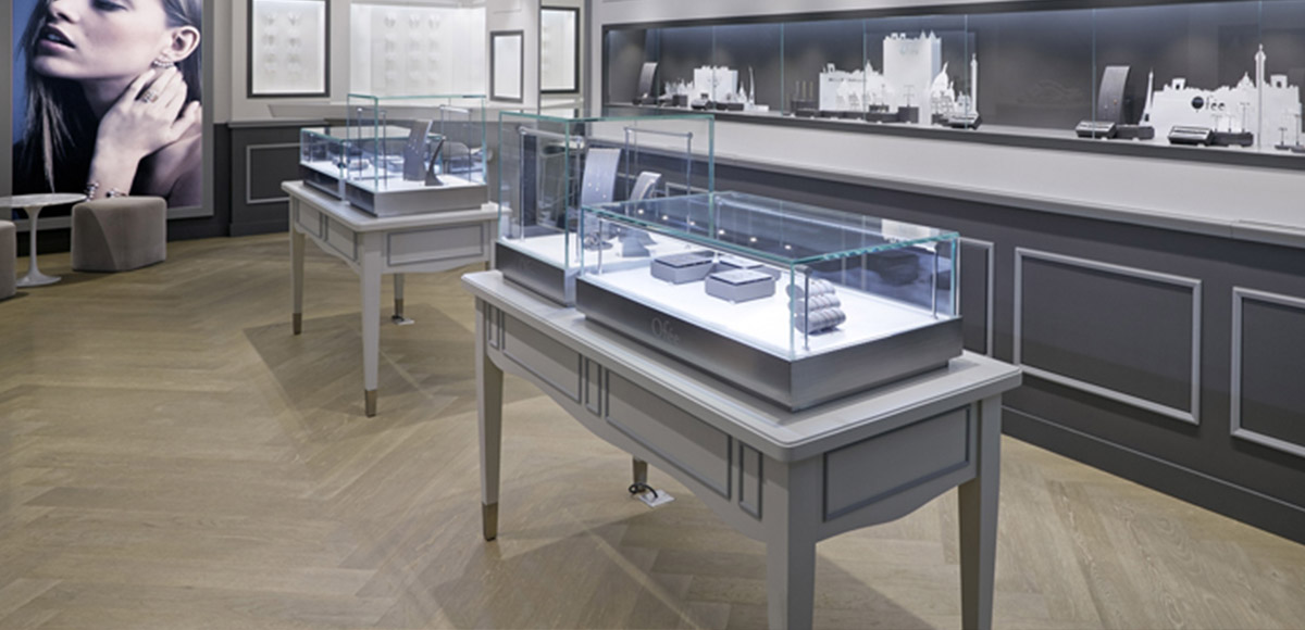 tabletop jewelry display cases